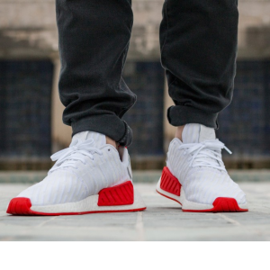 adidas NMD R2 PK (Ftwr White / Ftwr White / Core Red)